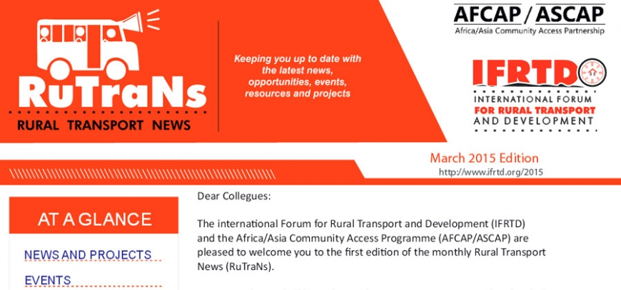 Rural Transport News March 2015